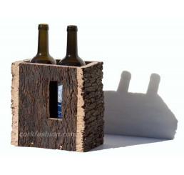 Caja de corcho, para 2 botellas (modelo RC-GL0703012001)
